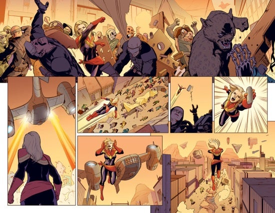 captain marvel 1 preview blast off
