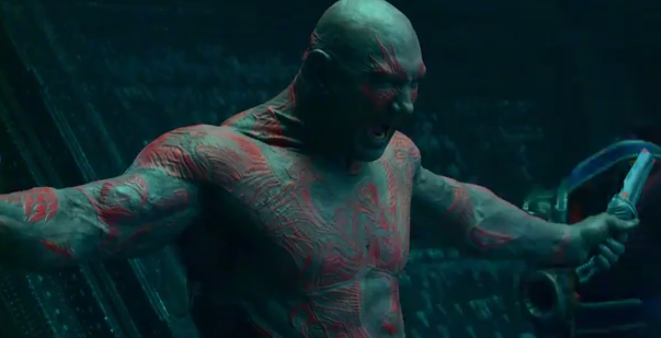 Dave bautista as drax the destroyer guardians of the galaxy png