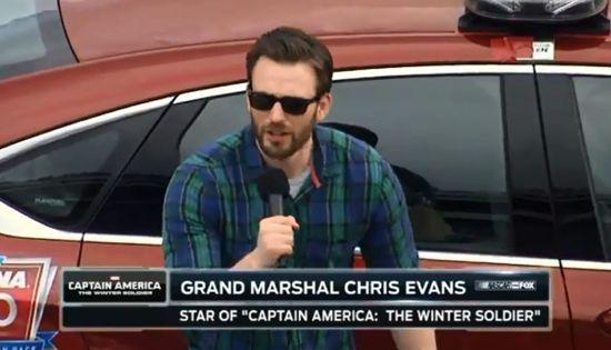 Watch Captain America Kick Off The Daytona 500