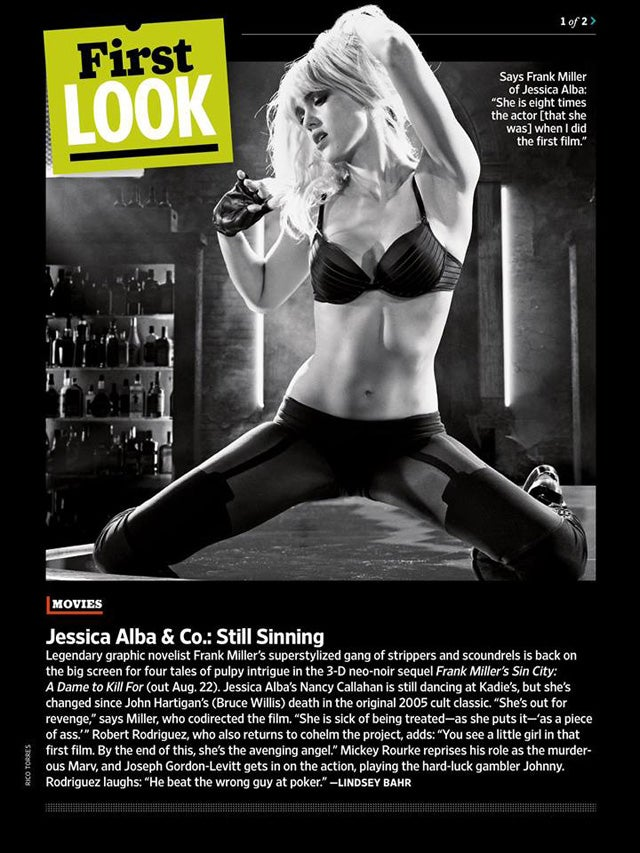 First Look at Sin City: A Dame to Kill For in Entertainment Weekly This Week