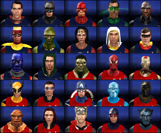 NBA2K Avengers vs. Justice League complete lineup