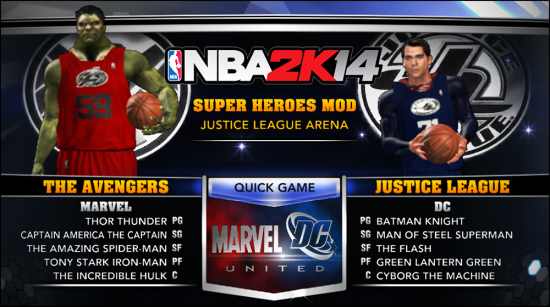 NBA2K Avengers vs. Justice League