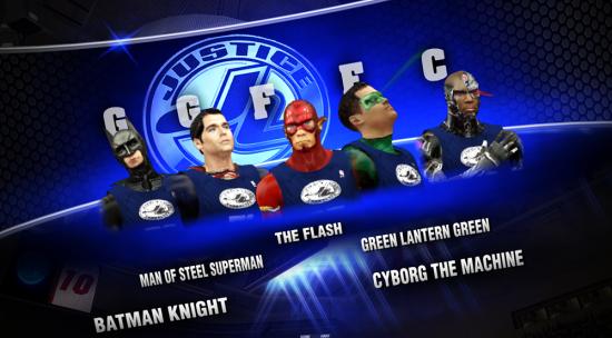 NBA2K Justice League starting lineup