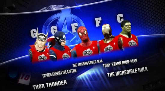 NBA2K Avengers Starting Lineup