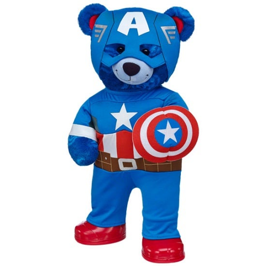 Ready For Action Captain America Bear