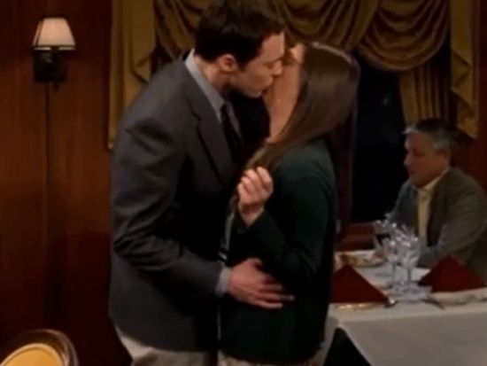 Sheldon Kisses Amy on The Big Bang Theory