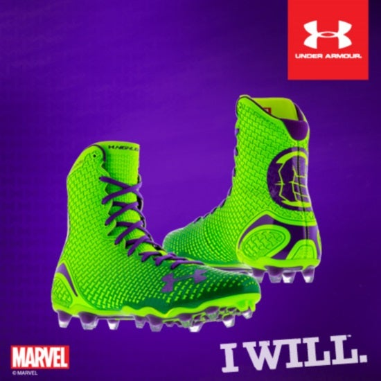 Under Armour Reveals Marvel  amp  DC Comics Alter Ego Highlight CleatUnder Armour Hulk Socks