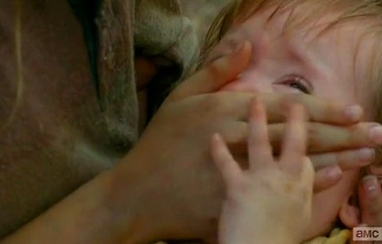 The Walking Dead Baby Judith dies