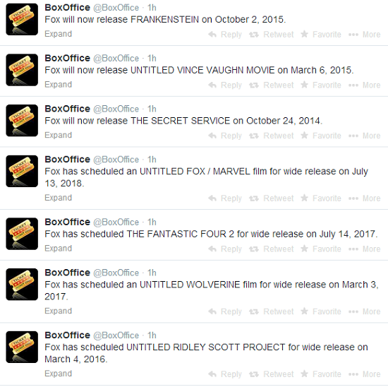 Fantastic Four 2, Wolverine 3, Untitled Fox/Marvel Movie Get Release Dates in 2017-2018