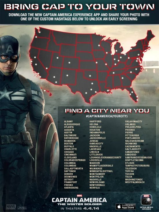 Captain America The Winter Soldier Fan Screenings
