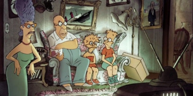 chomet simpsons couch gag
