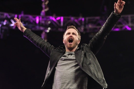 Need For Speed's Aaron Paul Visits WWE Monday Night Raw