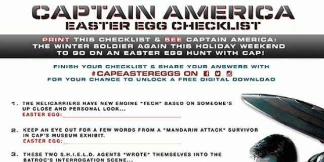 Captain America: The Winter Soldier Easter Egg Checklist Answers