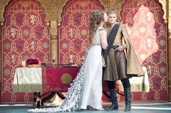 game of thrones joffrey amp margaerys wedding first look