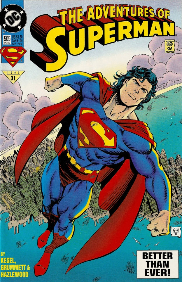 Superman Comic Book White Cover : Superman s red trunks have vanished from this week issue
