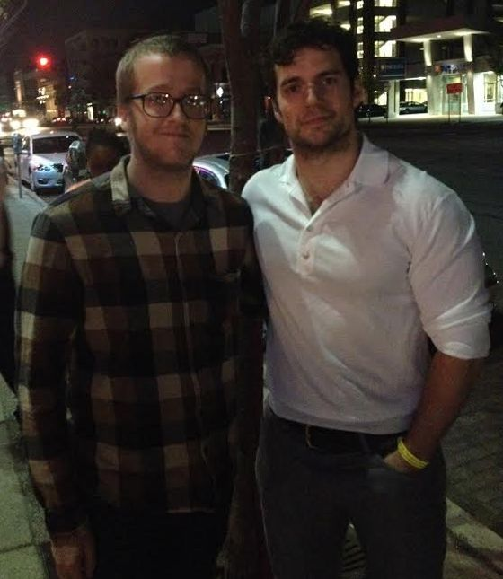 Henry Cavill and Thomas Batman Vs. Superman Cast Party