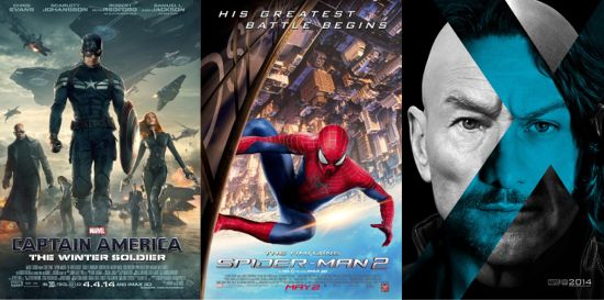 Captain America: The Winter Soldier, Amazing Spider-Man 2, X-Men: Days Of Future Past