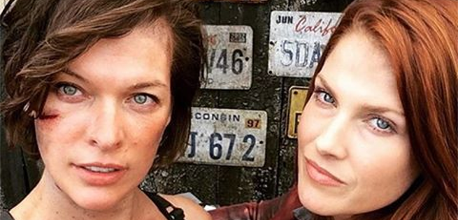 First Look At Milla Jovovich  & Ali Larter On Set Of Resident Evil: The Final Chapter