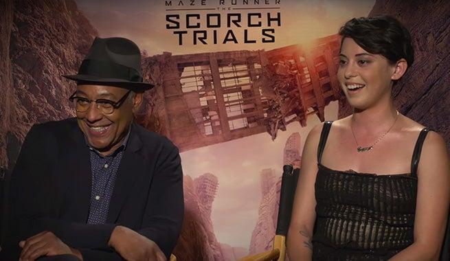 Giancarlo Esposito & Rosa Salazar Talk Maze Runner: The Scorch Trials