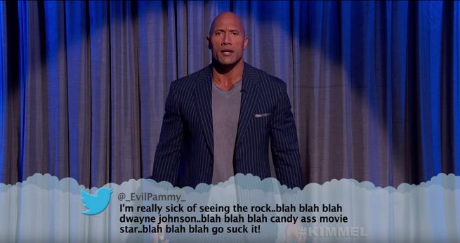 the rock mean tweets