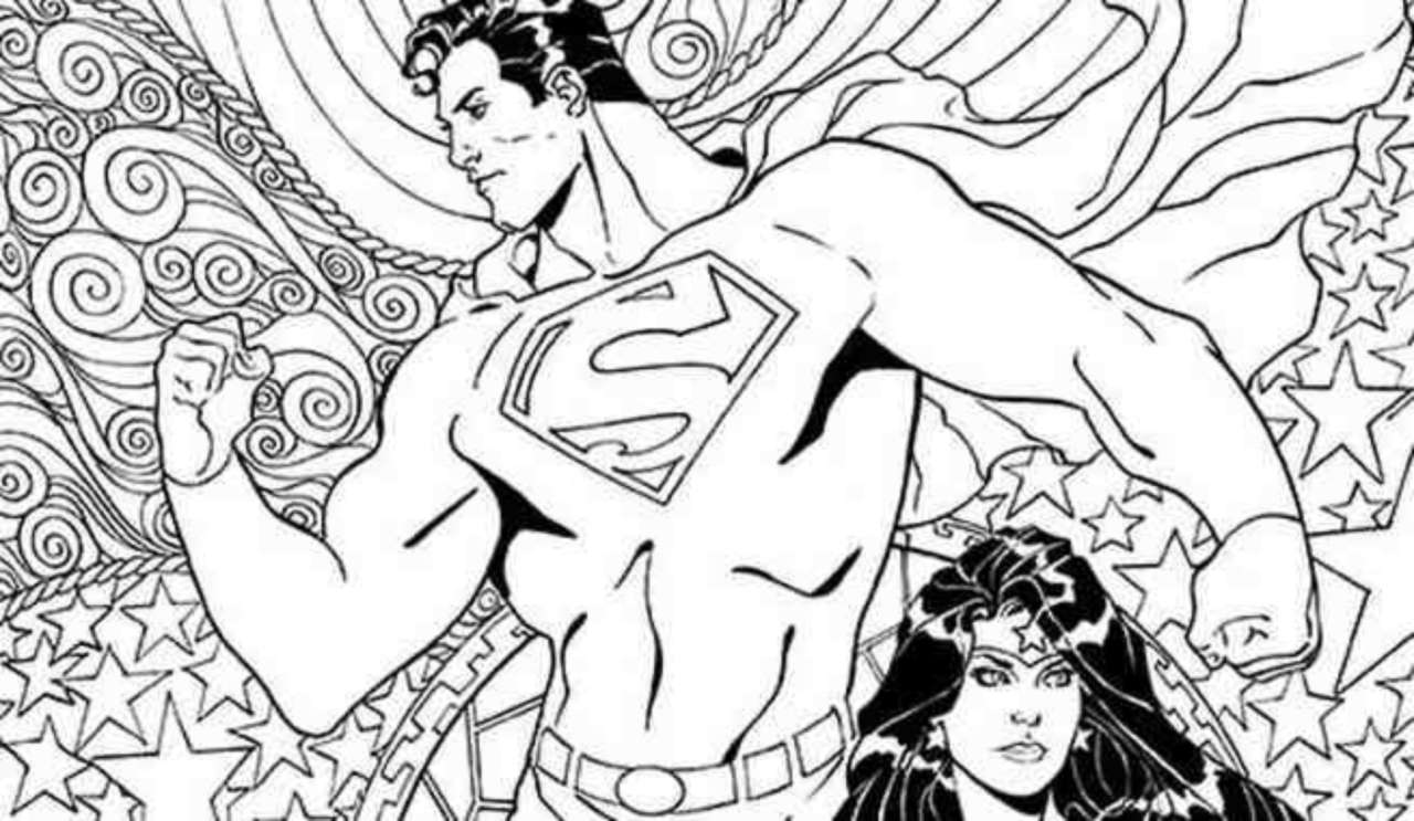 EXCLUSIVE: DC Comics Coloring Book Covers For Superman/Wonder Woman ...