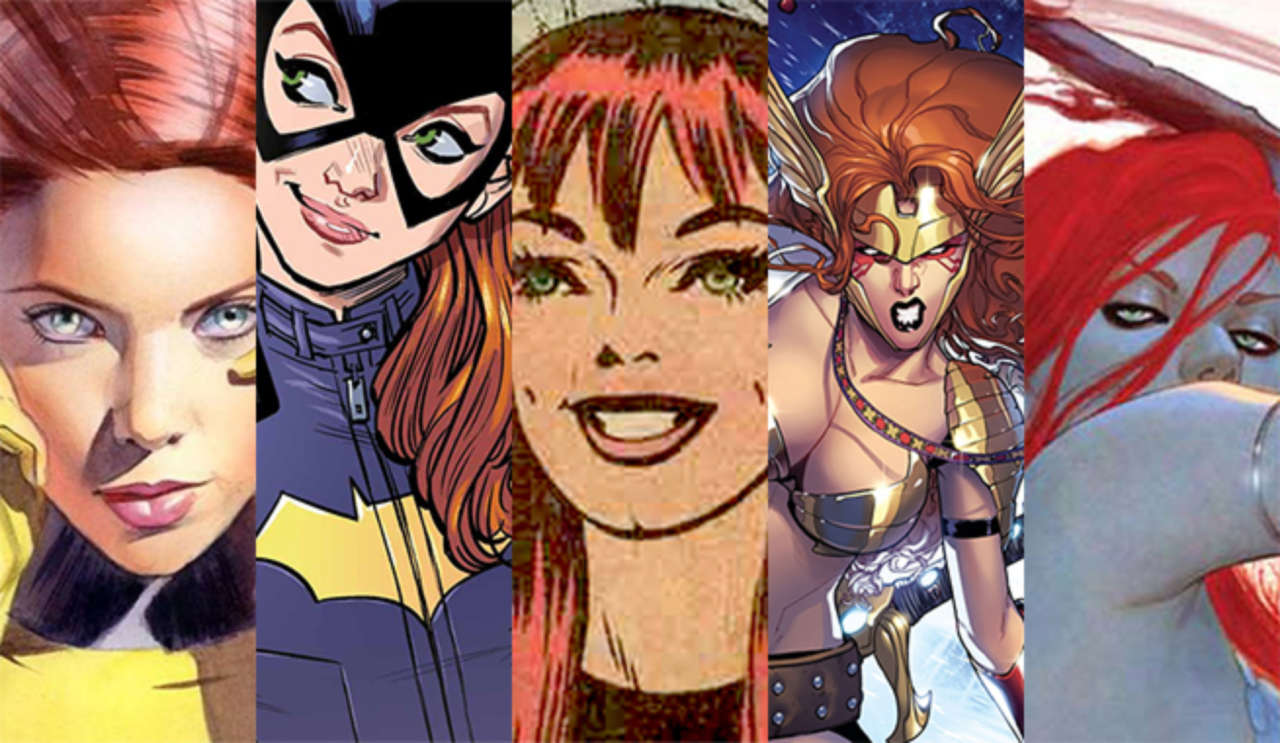 Top Five Redheaded Women In Comics