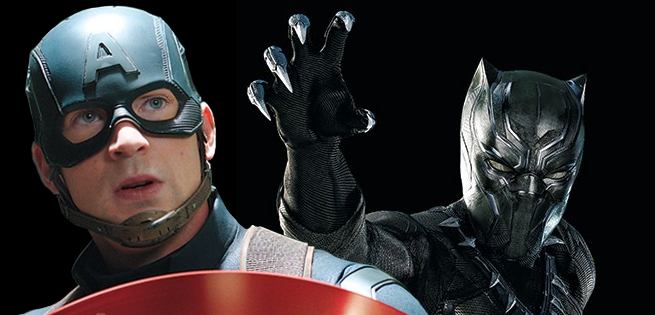 Black Panther Claws Captain America S Shield In New Civil War Promo Art