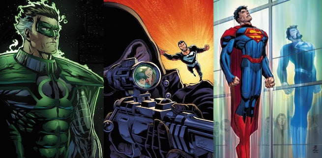 Superman-Green-Lantern-Pre-and-post-Flashpoint