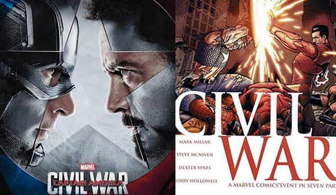 Civil War Movie Comic