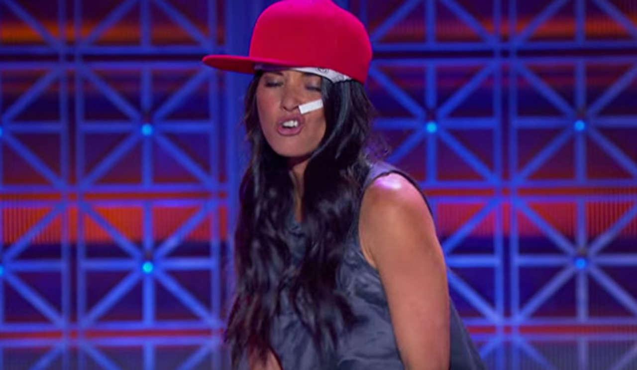 X-Men Apocalypse's Olivia Munn Performs Nelly's Dilemma On ...
