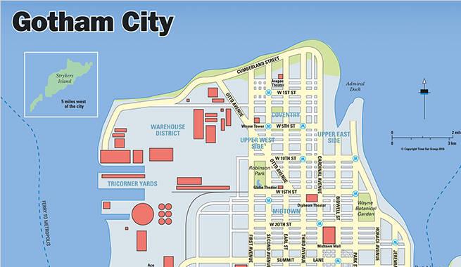 Batman V. Superman: Gotham City & Metropolis Maps Revealed