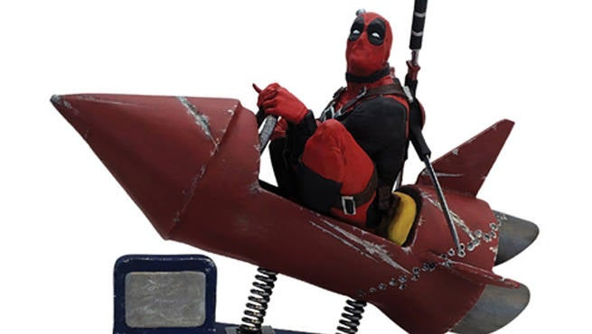 DeadpoolRocketStatue