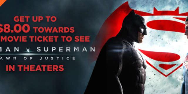 Buy A DC Comics Movie For $5, Get $8 Off Your Batman V Superman Ticket