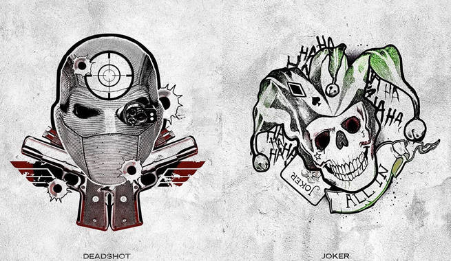 Suicide Squad Joker And Deadshot Sxsw Harley S Tattoo Parlor Posters