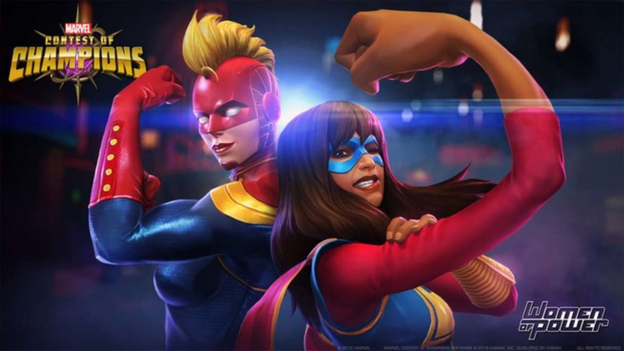 marvel contest of champions ep on women of power, in tech