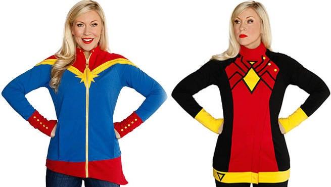 TG Captain Marvel SpiderWoman Zipup