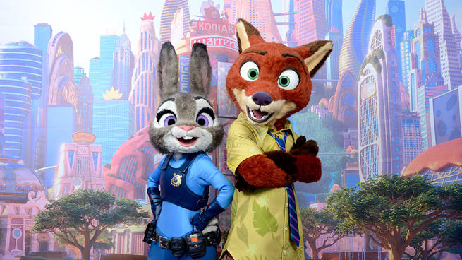 Zootopia's Nick Wilde and Judy Hopps Head to Disney Parks