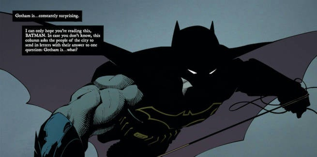 Batman #51 Interview Purple Cape