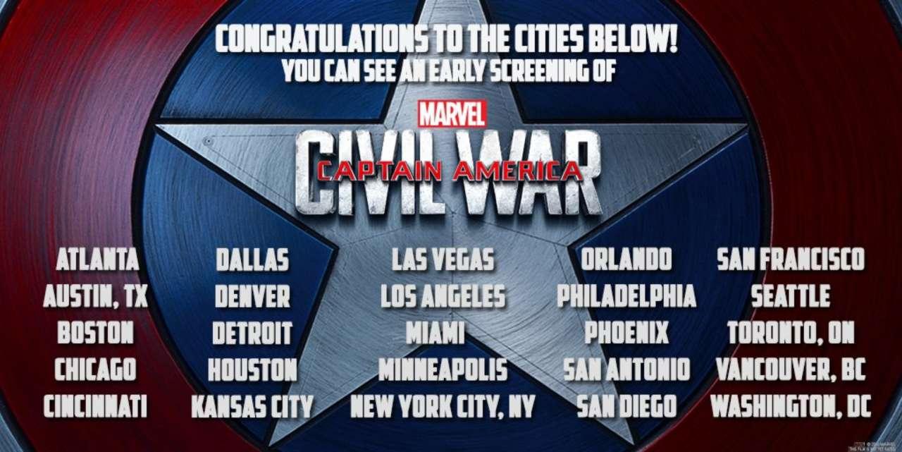 captain america: civil war holding early fan screenings