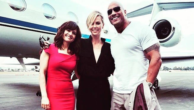 The Rock Officially Welcomes Charlize Theron To Fast & Furious 8