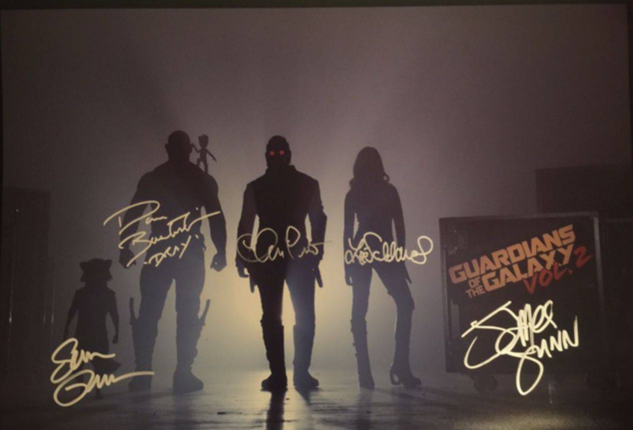 Guardians of the Galaxy Cast-Signed Promo Art Being Auctioned For Charity