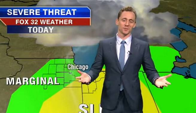 Tom Hiddleston Delivers Weather Report And Blames Thor