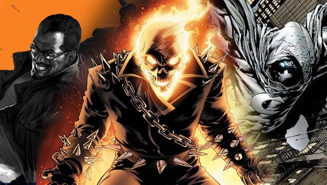 Blade Ghost Rider Moon Knight