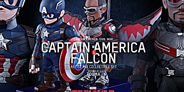 Hot Toys - CACW - Captain America and Falcon Artist Mix Collectible Set_PR1