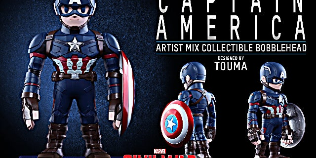 Hot Toys - CACW - Captain America Artist Mix Collectible BobbleHead_PR2