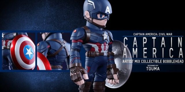 Hot Toys - CACW - Captain America Artist Mix Collectible BobbleHead_PR3