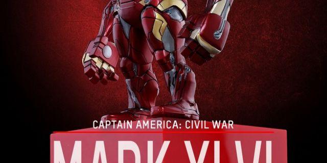 Hot Toys - CACW - Iron Man Mark XLVI Artist Mix Collectible BobbleHead_PR1