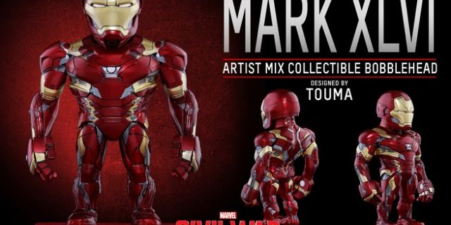 Hot Toys - CACW - Iron Man Mark XLVI Artist Mix Collectible BobbleHead_PR2