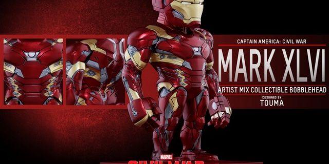 Hot Toys - CACW - Iron Man Mark XLVI Artist Mix Collectible BobbleHead_PR3