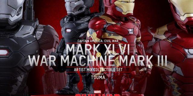 Hot Toys - CACW - Mark XLVI and War Machine Mark III Artist Mix Collectible Set_PR1